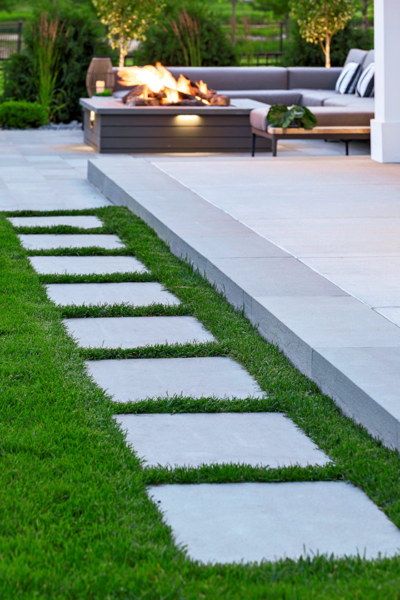 Family-Focused Fabulous stepped path by Livit Site + Structure